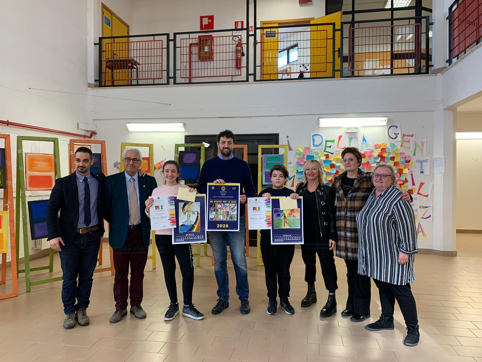 """Concorso Lions Club """"Un Poster per la Pace"""": premiati Giovina Tedeschi e Nereo Sabatini"""