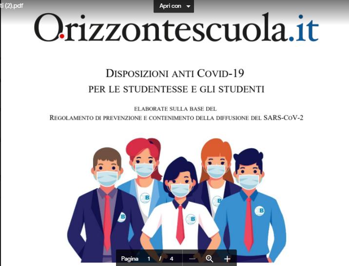 Disposizioni Anti-Covid 19 per gli studenti