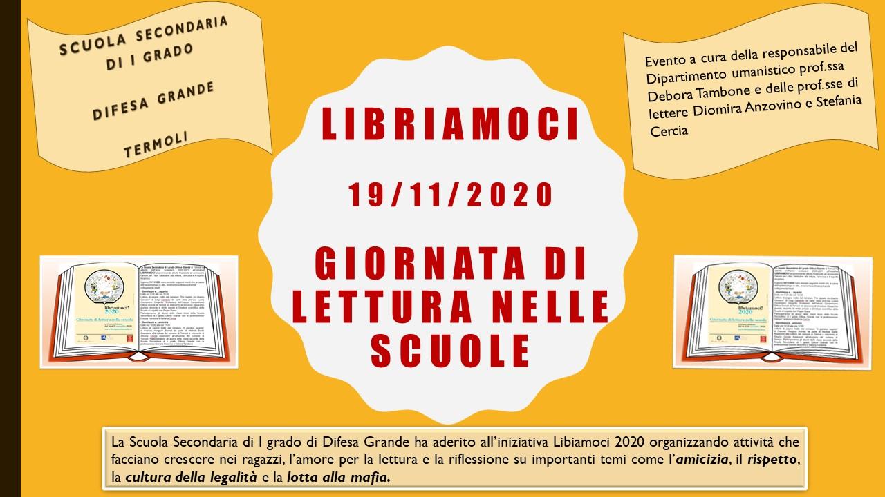 Evento – LIBRIAMOCI – a.s. 2020/21 – Scuola Secondaria di I grado