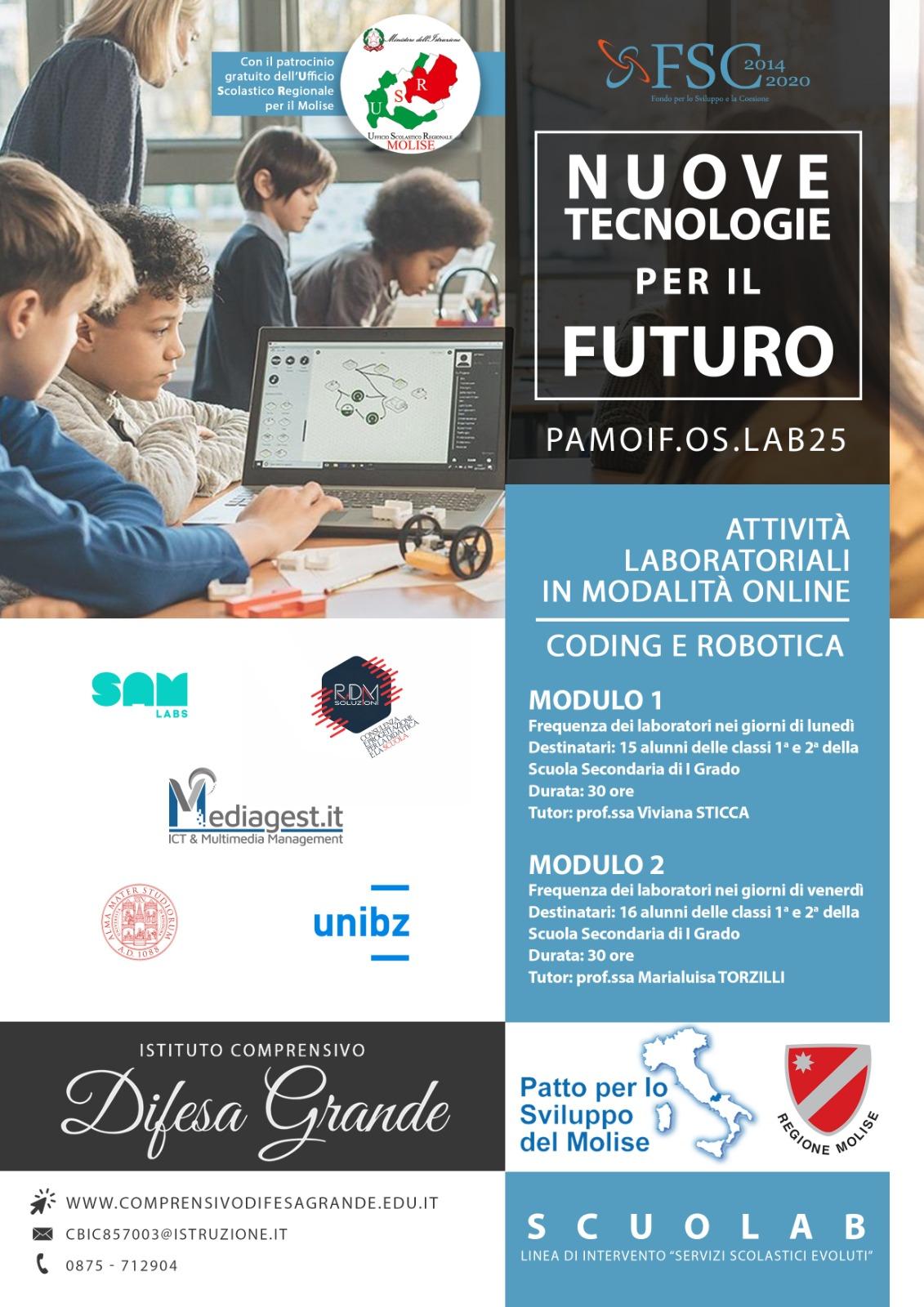 """Locandina -Progetto """"Nuove Tecnologie per il Futuro"""""""