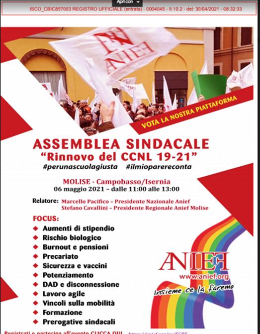 Convocazione assemblea sindacale – Rinnovo CCNL 19-21