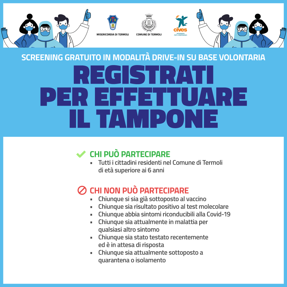Screening epidemiologico su base volontaria