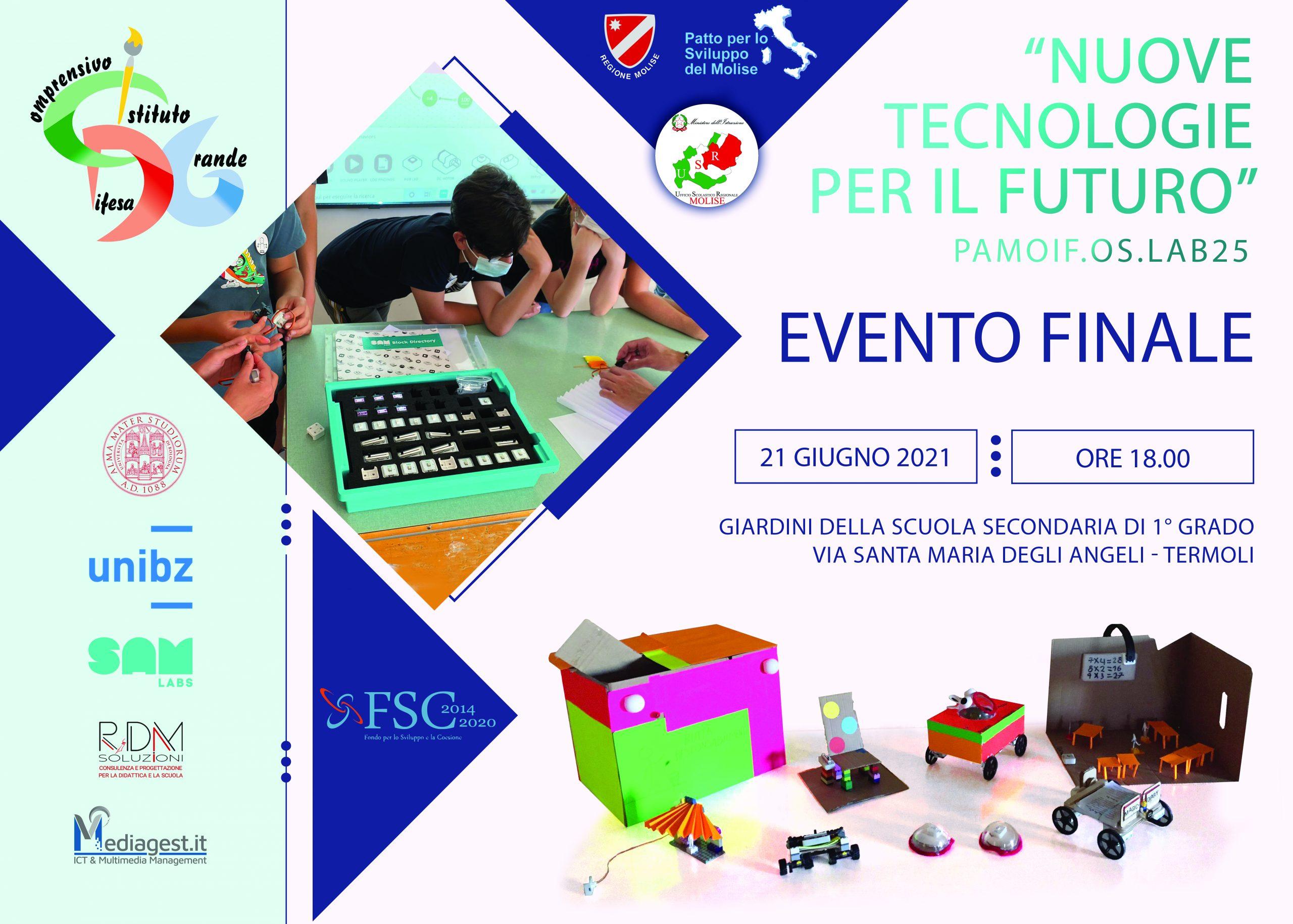 """Evento finale Progetto """"Nuove tecnologie per il futuro"""" – Risorse FSC 2014-2020 -INVITO"""