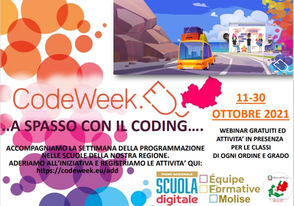 """CODE WEEK -11/30 ottobre -""""A spasso con il Coding…"""""""